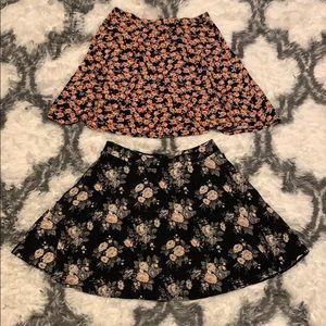 Bundle of Floral Skater Skirts
